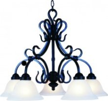 Black Wrought Iron Chandelier