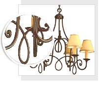 10-1130 Hubbardton Forge Wrought Iron Chandelier for Foyer or Hall