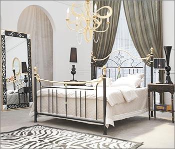 Elegant Wrought Iron Bed Design
