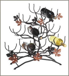 Wrought iron wine racks designs and styles wrought iron wine racks images - Wine racks wrought iron floor standing ...