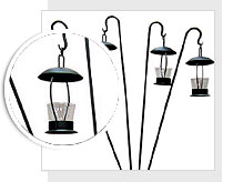 Attirant Wrought Iron Garden Sticks