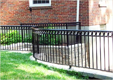 Wrought Iron New Orleans Fence - Decorative Garden Border Edging