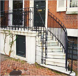 ... Outdoor Iron Stair Railings: Trendy Entry
