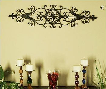 Tuscan Decorating You Can Hang The Large Wrought Iron Wall