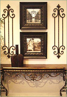 Vertical Wrought Iron Wall Decor Grilles