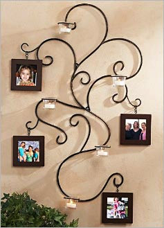 Wall decor renewable sustainable resource wrought iron wall decor