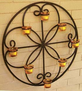 Decorating Ideas With Wrought Iron Votive Candle Holders & Sconces ...