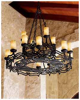Wrought Iron Chandelier Wall Decor 3
