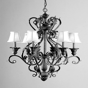 Wrought iron candle chandelier - TheFind