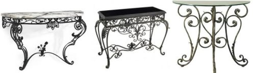 Wrought Iron Console Tables