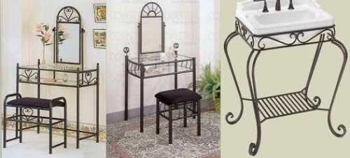 Wrought Iron Vanity Table