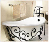 Wrought Iron Bathroom Bath Accessories