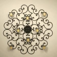 Wrought Iron Candle Wall Sconces, Wrought Iron Candle ... on Wrought Iron Outdoor Candle Sconces id=17908