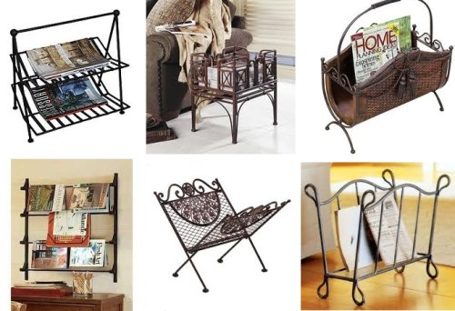 Send Online Enquiry For Whole Purchase Of Wrought Iron Magazine Racks Newspaper Holders Holder