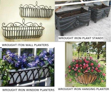Types Of Wrought Iron Garden Planters